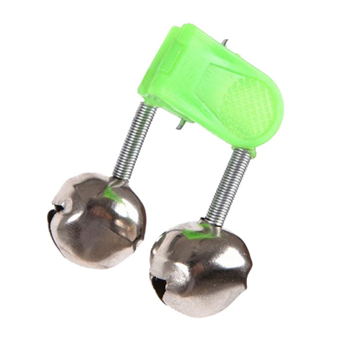 50Pcs 4.5cm Outdoor Twin Bells Ring Fishing Rod Clamp Bite Lure AlarmFishing Tools &amp; Accessories<br>Form ColorGreen + silverQuantity1 DX.PCM.Model.AttributeModel.UnitMaterialPlastic + metalPacking List50 * Fishing bells<br>