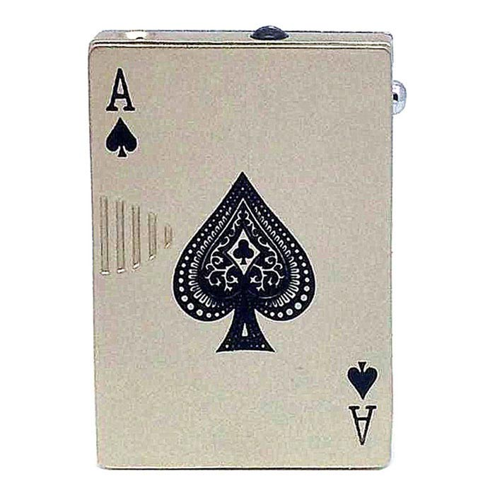 Innovative Style Poker Briquet avec Counterfeit Detector Lamp - Argent