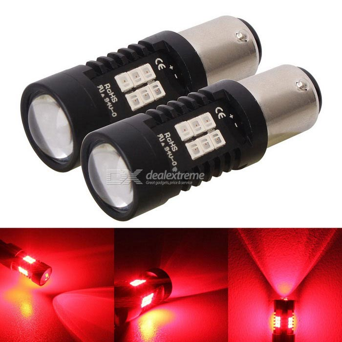 MZ 1157 bay15d 10.5W 21-2835 SMD Red LED Car Tail Brake Lights 1224V