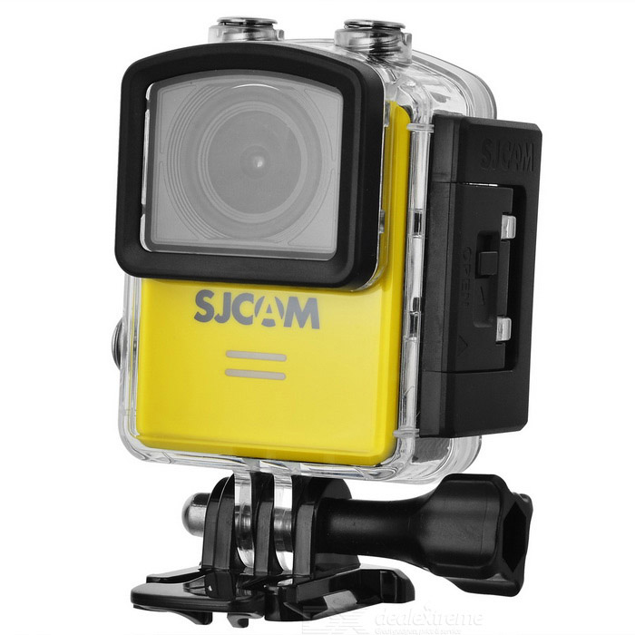 SJCAM M20 2160P 16MP Wi-Fi Remote Sport Camera - YellowSport Cameras<br>Form  ColorYellowModelM20Shade Of ColorYellowMaterialABS plasticsQuantity1 DX.PCM.Model.AttributeModel.UnitImage SensorCMOSImage Sensor Size2/3 inchesAnti-ShakeYesFocal Distance- DX.PCM.Model.AttributeModel.UnitFocusing Range-Optical ZoomNoDigital Zoom8XBuilt-in SpeedliteYesWide Angle166° Adjustable FOVEffective Pixels16MPImagesJPG,Others,RAWStill Image Resolution16M 4608*3456 14M 4320*3240 12M 4032*3024 <br>10M 3648*2736 8M 3264*2448 5M 2592*1944 <br>3M 2048*1536 2MHD 1.3M 1280*960 VGA 640*480VideoMOV,MP4Video Resolution4K 24fps(4K is supported via Interpolation) 2K 30fps<br>1080P 60fps/30fps 720P 120fps/60fps/30fps VGA 240fpsVideo Frame Rate30,60,120,Others,24, 240Audio SystemStereoCycle RecordYesISOOthers,Auto,100, 200, 400, 800, 1600Exposure CompensationOthers,+2.0, +5/3, +4/3, +1.0, +2/3, +1/3, +0.0, -1/3, -2/3, -1.0, -4/3, -5/3, -2.0White Balance ModeOthers,Auto, Daylight,Cloudy,Tungsten,FluorescentSupports Card TypeTFSupports Max. Capacity32 DX.PCM.Model.AttributeModel.UnitBuilt-in Memory / RAMNoInput InterfaceMicOutput InterfaceMicro USB,Micro HDMILCD ScreenYesScreen TypeOthers,LCDScreen Size1.5 DX.PCM.Model.AttributeModel.UnitScreen Resolution480*240Battery Measured Capacity 900 DX.PCM.Model.AttributeModel.UnitNominal Capacity900 DX.PCM.Model.AttributeModel.UnitBattery TypeLi-polymer batteryBattery included or notYesBattery Quantity1 DX.PCM.Model.AttributeModel.UnitVoltage3.8 DX.PCM.Model.AttributeModel.UnitBattery Charging TimeAbout 3 hoursLow Battery AlertsYesWater ResistantWater Resistant 3 ATM or 30 m. Suitable for everyday use. Splash/rain resistant. Not suitable for showering, bathing, swimming, snorkelling, water related work and fishing.Supported LanguagesEnglish,Simplified Chinese,Traditional Chinese,Russian,Portuguese,Spanish,Italian,Korean,French,Czech,German,Others,Slovakia, Japanese, polish, Hungarian, Danish, Dutch, TurkishPacking List1 * Sports camera (with battery)1 * Waterproof case1 * Backclip1 * 360 degree arc holder1 * 360 degree flat holder2 * Arc/flat base1 * Base2 * 3M adhesive tape1 * Bicycle holder4 * Adapters1 * Fixed base1 * Cleaning cloth1 * Chinese / English manual 1 * USB cable (99cm)<br>