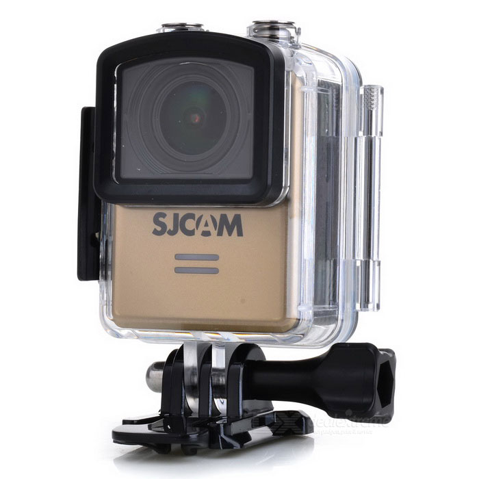 SJCAM M20 2160P 16MP Wi-Fi Remote Sport Camera - GoldenSport Cameras<br>Form  ColorGoldenModelM20Shade Of ColorGoldMaterialABS plasticsQuantity1 DX.PCM.Model.AttributeModel.UnitImage SensorCMOSImage Sensor Size2/3 inchesAnti-ShakeYesFocal Distance- DX.PCM.Model.AttributeModel.UnitFocusing Range-Optical ZoomNoDigital Zoom8XBuilt-in SpeedliteYesWide Angle166° Adjustable FOVEffective Pixels16MPImagesJPG,Others,RAWStill Image Resolution16M 4608*3456 14M 4320*3240 12M 4032*3024 <br>10M 3648*2736 8M 3264*2448 5M 2592*1944 <br>3M 2048*1536 2MHD 1.3M 1280*960 VGA 640*480VideoMOV,MP4Video Resolution4K 24fps(4K is supported via Interpolation) 2K 30fps<br>1080P 60fps/30fps 720P 120fps/60fps/30fps VGA 240fpsVideo Frame Rate30,60,120,Others,24,240Audio SystemStereoCycle RecordYesISOOthers,Auto,100,200,400,800,1600Exposure CompensationOthers,+2.0, +5/3, +4/3, +1.0, +2/3, +1/3, +0.0, -1/3, -2/3, -1.0, -4/3, -5/3, -2.0White Balance ModeOthers,Auto, Daylight,Cloudy,Tungsten,FluorescentSupports Card TypeTFSupports Max. Capacity32 DX.PCM.Model.AttributeModel.UnitBuilt-in Memory / RAMNoInput InterfaceMicOutput InterfaceMicro USB,Micro HDMILCD ScreenYesScreen TypeOthers,LCDScreen Size1.5 DX.PCM.Model.AttributeModel.UnitScreen Resolution480*240Battery Measured Capacity 900 DX.PCM.Model.AttributeModel.UnitNominal Capacity900 DX.PCM.Model.AttributeModel.UnitBattery TypeLi-polymer batteryBattery included or notYesBattery Quantity1 DX.PCM.Model.AttributeModel.UnitVoltage3.8 DX.PCM.Model.AttributeModel.UnitBattery Charging TimeAbout 3 hoursLow Battery AlertsYesWater ResistantWater Resistant 3 ATM or 30 m. Suitable for everyday use. Splash/rain resistant. Not suitable for showering, bathing, swimming, snorkelling, water related work and fishing.Supported LanguagesEnglish,Simplified Chinese,Traditional Chinese,Russian,Portuguese,Spanish,Italian,Korean,French,Czech,German,Others,Slovakia, Japanese, polish, Hungarian, Danish, Dutch, TurkishPacking List1 * Sports camera (with battery)1 * Waterproof case1 * Backclip1 * 360 degree arc holder1 * 360 degree flat holder2 * Arc/flat base1 * Base2 * 3M adhesive tape1 * Bicycle holder4 * Adapters1 * Fixed base1 * Cleaning cloth1 * Chinese / English manual 1 * USB cable (99cm)<br>