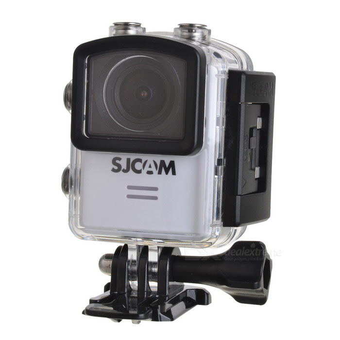 SJCAM M20 2160P 16MP Wi-Fi Remote Sport Camera - WhiteSport Cameras<br>Form  ColorWhiteModelM20Shade Of ColorWhiteMaterialABS plasticsQuantity1 DX.PCM.Model.AttributeModel.UnitImage SensorCMOSImage Sensor Size2/3 inchesAnti-ShakeYesFocal Distance- DX.PCM.Model.AttributeModel.UnitFocusing Range-Optical ZoomNoDigital Zoom8XBuilt-in SpeedliteYesWide Angle166° Adjustable FOVEffective Pixels16MPImagesJPG,Others,RAWStill Image Resolution16M 4608*3456 14M 4320*3240 12M 4032*3024 <br>10M 3648*2736 8M 3264*2448 5M 2592*1944 <br>3M 2048*1536 2MHD 1.3M 1280*960 VGA 640*480VideoMOV,MP4Video Resolution4K 24fps(4K is supported via Interpolation) 2K 30fps<br>1080P 60fps/30fps 720P 120fps/60fps/30fps VGA 240fpsVideo Frame Rate30,60,120,Others,24, 240Audio SystemStereoCycle RecordYesISOOthers,Auto,100,200,400,800,1600Exposure CompensationOthers,+2.0, +5/3, +4/3, +1.0, +2/3, +1/3, +0.0, -1/3, -2/3, -1.0, -4/3, -5/3, -2.0White Balance ModeOthers,Auto, Daylight,Cloudy,Tungsten,FluorescentSupports Card TypeTFSupports Max. Capacity32 DX.PCM.Model.AttributeModel.UnitBuilt-in Memory / RAMNoInput InterfaceMicOutput InterfaceMicro USB,Micro HDMILCD ScreenYesScreen TypeOthers,LCDScreen Size1.5 DX.PCM.Model.AttributeModel.UnitScreen Resolution480*240Battery Measured Capacity 900 DX.PCM.Model.AttributeModel.UnitNominal Capacity900 DX.PCM.Model.AttributeModel.UnitBattery TypeLi-polymer batteryBattery included or notYesBattery Quantity1 DX.PCM.Model.AttributeModel.UnitVoltage3.8 DX.PCM.Model.AttributeModel.UnitBattery Charging TimeAbout 3 hoursLow Battery AlertsYesWater ResistantWater Resistant 3 ATM or 30 m. Suitable for everyday use. Splash/rain resistant. Not suitable for showering, bathing, swimming, snorkelling, water related work and fishing.Supported LanguagesEnglish,Simplified Chinese,Traditional Chinese,Russian,Portuguese,Spanish,Italian,Korean,French,Czech,German,Others,Slovakia, Japanese, polish, Hungarian, Danish, Dutch, TurkishPacking List1 * Sports camera (with battery)1 * Waterproo