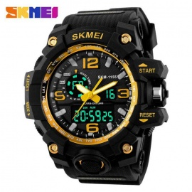 SKMEI 1155 50M Waterproof Multifunction Sport Watch - Gold