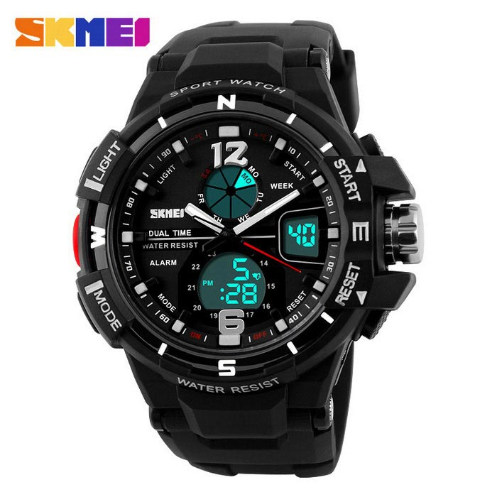 SKMEI 1148 30M Waterproof Multifunction Sport Watch - Black