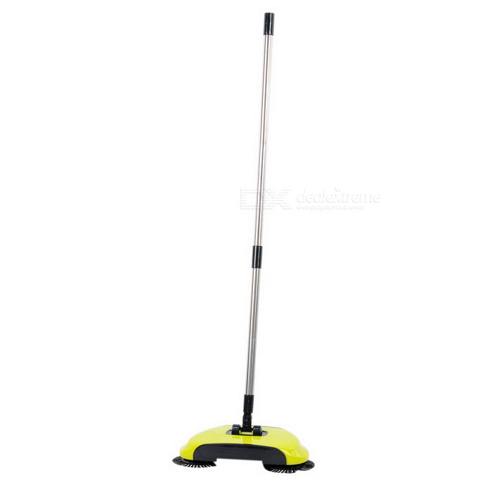 Buy Home Use Dual Brush Automatic Hand-push Floor Sweeper - Green + Black with Litecoins with Free Shipping on Gipsybee.com