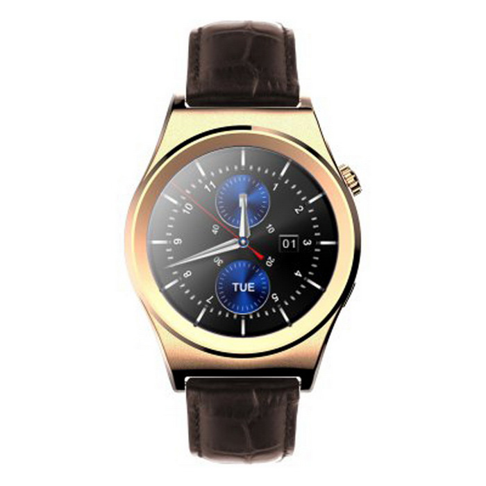 X10 Bluetooth V4.0 IPS Screen Smart Wristband Watch - GoldenSmart Watches<br>Form  ColorGoldenQuantity1 DX.PCM.Model.AttributeModel.UnitMaterialCase material: Stainless Steel  Band material: Genuine LeatherShade Of ColorGoldCPU ProcessorMTK2502Bluetooth VersionBluetooth V4.0Touch Screen TypeIPSOperating SystemNoCompatible OSAndroid 4.3 / iOS 7.0 and above systemWater-proofIP65Battery Capacity210 DX.PCM.Model.AttributeModel.UnitBattery TypeLi-polymer batteryStandby Time3 DX.PCM.Model.AttributeModel.UnitOther FeaturesLanguage: Arabic,Dutch,English,French,German,Italian,Portuguese,Russian,Spanish,TurkishScreen Size- DX.PCM.Model.AttributeModel.UnitScreen Resolution-Language-Wristband Length25.5 DX.PCM.Model.AttributeModel.UnitBattery ModeReplacementPacking List1 * Smart Wristband watch1 * Charging cable (62cm)1 * Chinese / English user manual<br>
