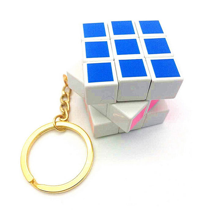 Refined Printing Color Plating Gold Key Chain w/ a Rubiks CubeMagic IQ Cubes<br>Form  ColorYellow + White + Multi-ColoredMaterialPCQuantity1 DX.PCM.Model.AttributeModel.UnitType3x3x3Suitable Age 8-11 years,12-15 years,Grown upsPacking List1 * Cube<br>