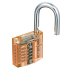 Mini Transparent Lock + 9-Lockpick utbildningsverktyg set - Orange + Svart