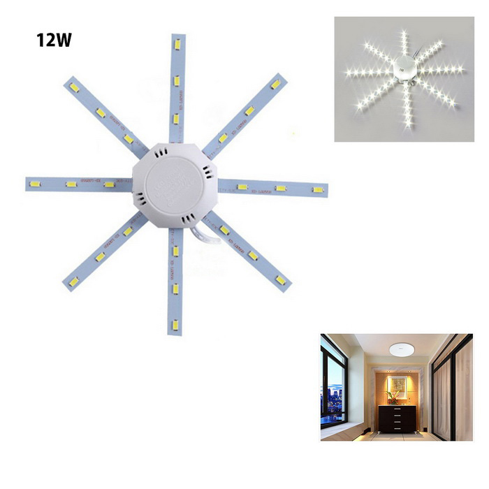 Buy 12W 1000lm 24-SMD 5730 Cold White Light Source for Ceiling Lamp with Litecoins with Free Shipping on Gipsybee.com