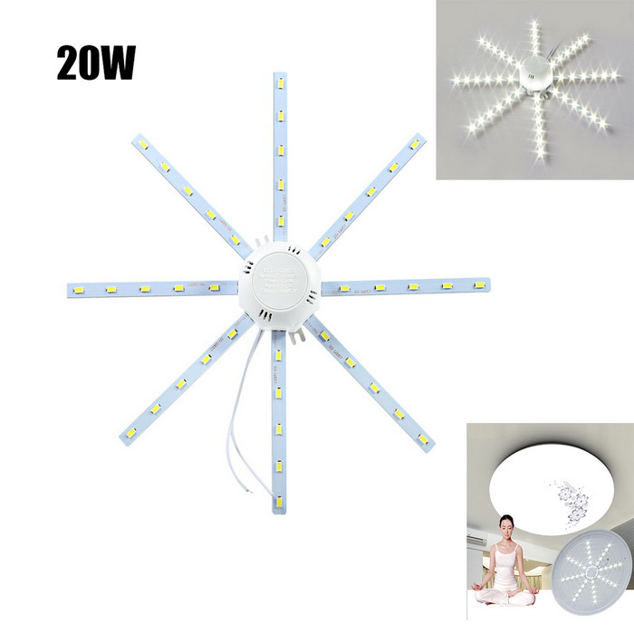 20W 1800lm 40-SMD 5730 Cold White Light Source for Ceiling Lamp