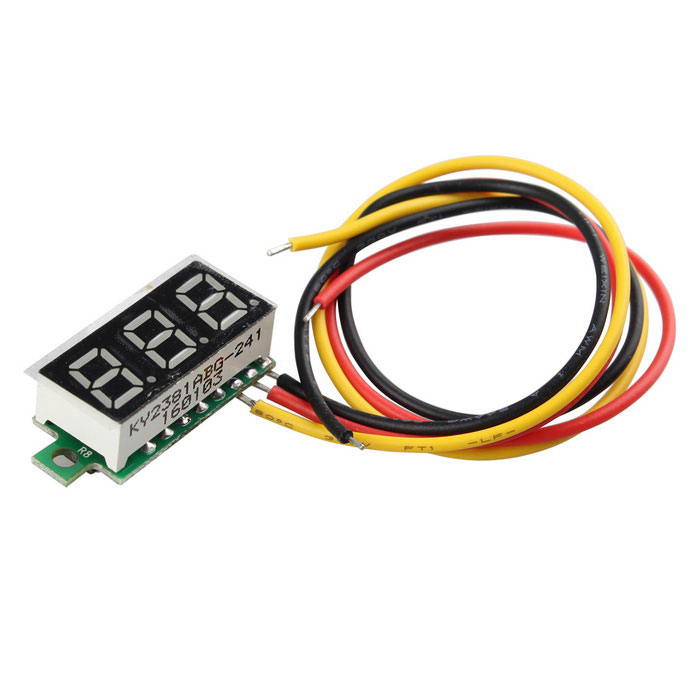 0.28 Inch Digital Display Ultra Small Digital DC Voltage Meter - Black