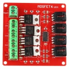 Four Channel MOSFET Button IRF540 V2.0+ MOSFET Switch Module - Red