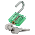 Mini Lock + 9-Lockpick Training Tool Set - Verde + Blu