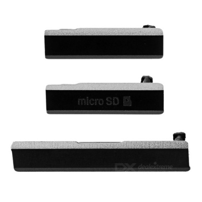 Anti-dust Plug Kit for SONY Xperia Z1 L39H - Black (3 PCS)