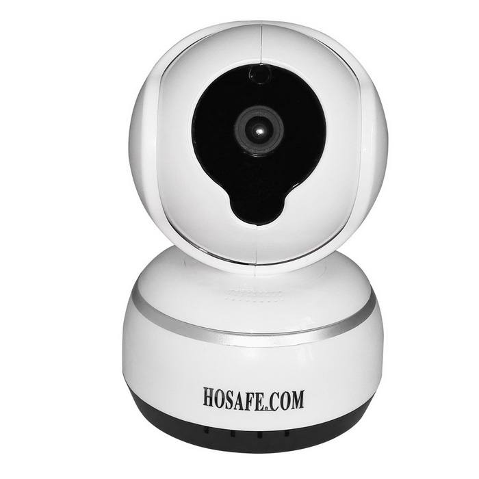 HOSAFE 720P Wireless IP Camera w/ 32G TF / Recording 30 Days (US Plug)IP Cameras<br>Form  ColorWhitePower AdapterUS PlugModelHOSAFE-SR03MaterialPlasticQuantity1 DX.PCM.Model.AttributeModel.UnitImage SensorCMOSImage Sensor SizeOthers,1/4 InchPixels1.0MPLens3.6mmViewing Angle90 DX.PCM.Model.AttributeModel.UnitVideo Compressed FormatH.264Picture Resolution1280x720PFrame Rate25fpsInput/OutputBuilt-in Microphone + SpeakerAudio Compression FormatMP3,WAVMinimum Illumination0 DX.PCM.Model.AttributeModel.UnitNight VisionYesIR-LED Quantity6Night Vision Distance10 DX.PCM.Model.AttributeModel.UnitWireless / WiFi802.11 b / g / nNetwork ProtocolTCP,IP,UDP,DHCP,uPnPSupported BrowserOthers,Do not supportSIM Card SlotNoOnline Visitor1000IP ModeDynamic,StaticMobile Phone PlatformAndroid,iOSFree DDNSYesIR-CUTYesBuilt-in Memory / RAMNoLocal MemoryYesMemory CardMicro SD CardMax. Memory Supported32GBMotorYesRotation AnglePan: 355°, Tilt: 120°Supported LanguagesEnglish,Simplified ChineseWater-proofNoRate Voltage5VRated Current1.5 DX.PCM.Model.AttributeModel.UnitPacking List1 * Network camera1 * English manual1 * Screw Kit1 * Bracket1 * Power adapter (AC 100~240V / US plug / 120cm-cable) 1 * HOSAFE Warning sticker<br>