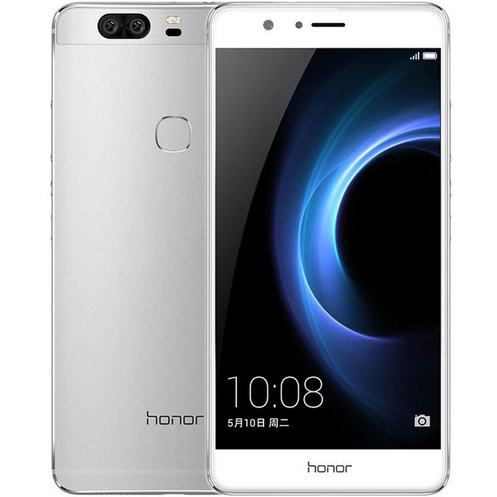 HUAWEI Honor V8 5.7 FHD 12MP Android 6.0 LTE Smartphone - SilverAndroid Phones<br>Form  ColorWhite SilverRAM4GBROM32GBBrandHUAWEIModelHonor V8Quantity1 DX.PCM.Model.AttributeModel.UnitMaterialMetalShade Of ColorWhiteTypeBrand NewPower AdapterUS PlugHousing Case MaterialMetalTime of Release2016-5Network Type2G,3G,4GBand DetailsFDD-LTE: B1 / B3 / B4 / B7; TDD-LTE: B38 / B39 / B40 / B41 (2555MHz ~ 2655MHz); UMTS (WCDMA) / HSPA + / DC-HSDPA: 850/900/1900/2100; TD- SCDMA: B34 / B39; CDMA2000 / 1X: BC0 (800MHz); GSM / EDGE: main card: 850/900/1800 / 1900MHz; Vice card: GSM: 850/900/1800 / 1900MHz; CDMA 800MHz 1X &amp; EVDO.Data TransferGPRS,HSDPA,EDGENetwork ConversationOne-Party Conversation OnlyWLAN Wi-Fi 802.11 a,b,g,n,acSIM Card TypeNano SIMSIM Card Quantity2Network StandbyDual Network StandbyGPSYesNFCNoInfrared PortNoBluetooth VersionBluetooth V4.0Operating SystemAndroid 6.0CPU Processor4 * Cortex A72 2.3GHz + 4 * Cortex A53 1.8GHz + I5CPU Core QuantityOcta-CoreLanguageSimplified Chinese, English, Indonesian, Malay, Bosnian, Catalan, Danish, German, Spanish, French, Macedonian, Japanese, Italian, Dutch, Norwegian, Hungarian, Polish, Portuguese, Rome, Serbian, Finnish, Swedish, Turkish, Hebrew, Arabic, Farsi, Estonian, Danish, GermanGPUMali T880Available Memory25.6GBMemory CardMicroSD (TF)Max. Expansion Supported128GB (Non-standard)Size Range5.5 inches &amp; OverTouch Screen TypeCapacitive ScreenScreen Resolution1920*1080Multitouch10Screen Size ( inches)5.7Screen Edge2D Curved EdgeCamera PixelOthers,12MPFront Camera Pixels12 DX.PCM.Model.AttributeModel.UnitVideo Recording Resolution1920*1080FlashYesAuto FocusYesTouch FocusYesTalk Time25.5 DX.PCM.Model.AttributeModel.UnitStandby Time446 DX.PCM.Model.AttributeModel.UnitBattery Capacity3500 DX.PCM.Model.AttributeModel.UnitBattery ModeNon-removableQuick ChargeNofeaturesWi-Fi,GPS,FMSensorG-sensor,Compass,Fingerprint authentication sensorWaterproof LevelIPX0 (Not Protected)Shock-proofNoI/O InterfaceMicro USBSoftwareCalculat