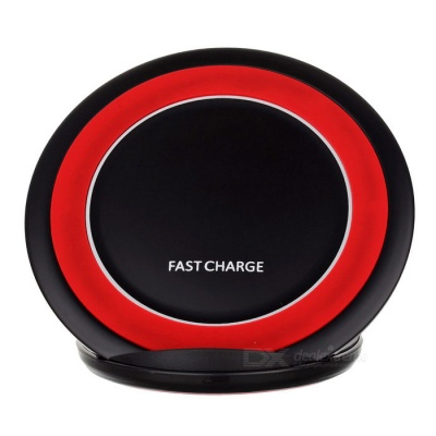 Qi Standard Wireless Charger Support Fast Charge - Black + Red