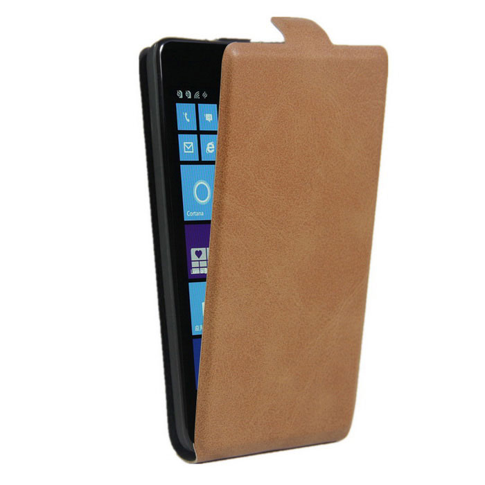 Up-Down Flip Open Protective PU Case for NOKIA lumia 535 - BrownLeather Cases<br>Form  ColorBrownModel001MaterialPUQuantity1 DX.PCM.Model.AttributeModel.UnitShade Of ColorBrownCompatible ModelsNOKIA lumia 535FeaturesAnti-slip,Shock-proof,Abrasion resistance,Easy-to-removePacking List1 * Case<br>