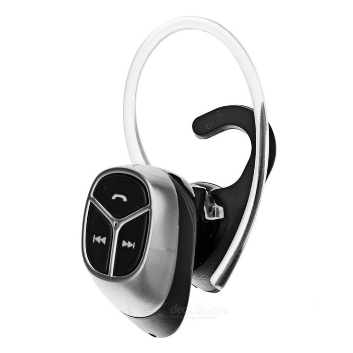 Mini Wireless Bluetooth V4.0 Ear-hook Sport Earphone - SilverHeadphones<br>Form  ColorSilverMaterialABSQuantity1 DX.PCM.Model.AttributeModel.UnitShade Of ColorSilverEar CouplingEar-hookBluetooth VersionBluetooth V4.0Operating Range10mSupports MusicYesApplicable ProductsUniversalPower AdapterUSBBrandOthers,N/AConnectionBluetoothHeadphone StyleUnilateral,In-Ear,Ear-hook,BluetoothWaterproof LevelIPX0 (Not Protected)Headphone FeaturesPhone Control,Volume Control,With Microphone,Lightweight,Portable,Invisible Style,For Sports &amp; ExerciseSupport Memory CardNoSupport Apt-XNoPacking List1 * Bluetooth earphone1 * USB charging cable (30+/-2cm)1 * Earphones (48+/-2cm)1 * Earhook1 * Earplug1 * Chinese / English user manual<br>