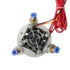 40W 24V 3-in 1-ut Mix-color Hotend för 3D-skrivare - Vit + Gul
