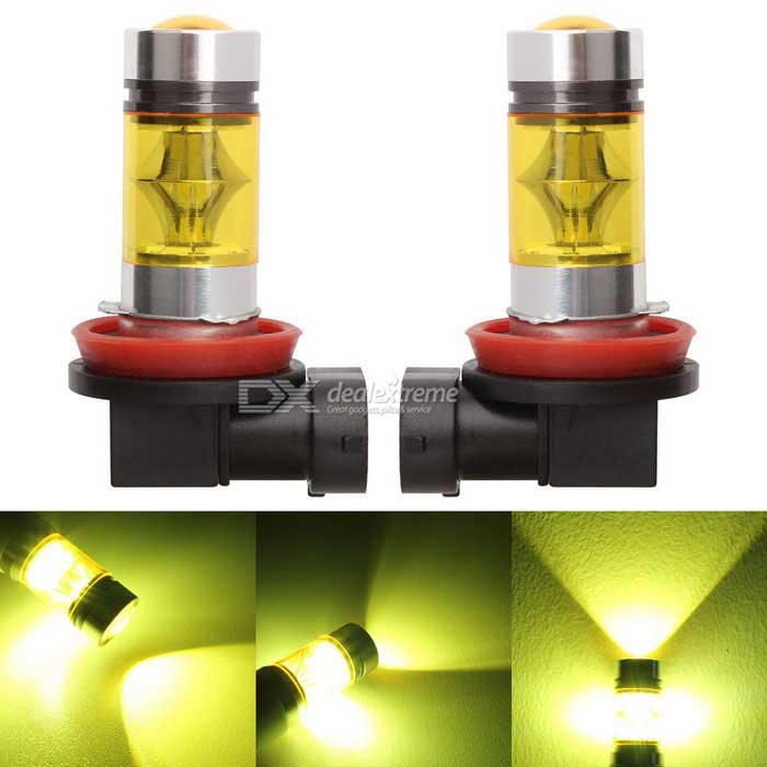 Buy MZ H11 20-2835 SMD 7W LED Car High Power Golden Fog Lights (2PCS) with Litecoins with Free Shipping on Gipsybee.com