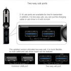 Car Dual USB Charger Bluetooth FM Transmitter U Disk Music Player