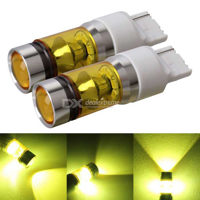MZ T20 7440 2835 20SMD 7W LED Car Gold Light Steering / Rear Fog LampsFog Lights<br>ConnectorT20 7440 W21WColor BINGoldenModelN/AQuantity2 DX.PCM.Model.AttributeModel.UnitMaterialAluminumForm  ColorYellow + WhiteRate VoltageDC12~24VPower7WColor Temperature3000KTheoretical Lumens1500 DX.PCM.Model.AttributeModel.UnitActual Lumens900 DX.PCM.Model.AttributeModel.UnitEmitter TypeLEDChip BrandOthers,N/AChip Type2835 SMD LEDTotal EmittersOthers,20Waterproof FunctionNoOther FeaturesActual power: 7WPacking List2*LED Lights<br>