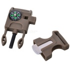 Outdoor Survival Buckle Multi-Tool for Camping - Svart + Flerfarger