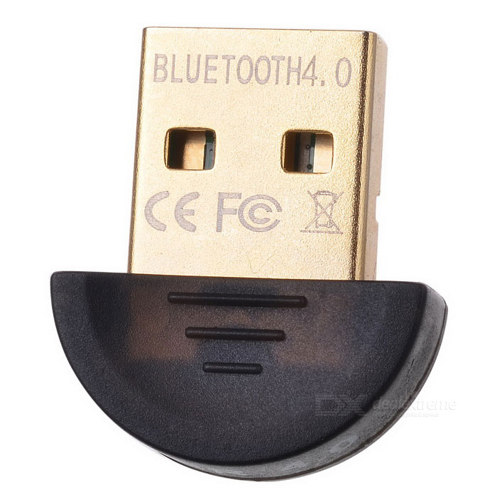 Mini USB Bluetooth V4.0 CSR sovitin Sovitin - Musta + Golden