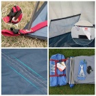 Ultralight 2/3-Person Outdoor Camping Stanový Kit - modrá