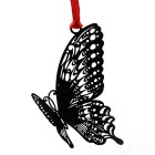 Stainless Steel Exquisite Hollow Butterfly Card Bookmark - Black