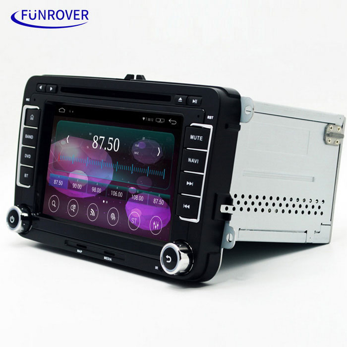 "LV001-3 7"" Android OEM Car DVD Player for VW Golf, Polo + More - Black"