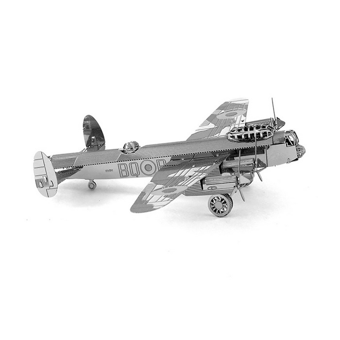 3D DIY Assembly Lancaster Bomber Model - SilverBlocks &amp; Jigsaw Toys<br>Form  ColorSilverModelNothingMaterialMetalQuantity1 DX.PCM.Model.AttributeModel.UnitNumber17Size17*12*0.3Suitable Age 5-7 years,8-11 years,12-15 years,Grown upsPacking List17 * Blocks<br>