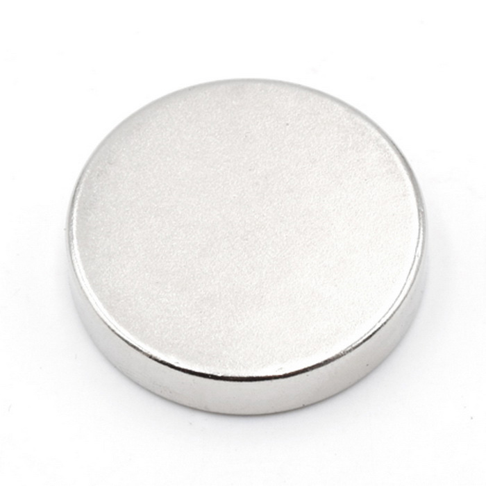 Circular Strong Magnetic Steel 25 * 5 Super Magnet NdFeB - Silver