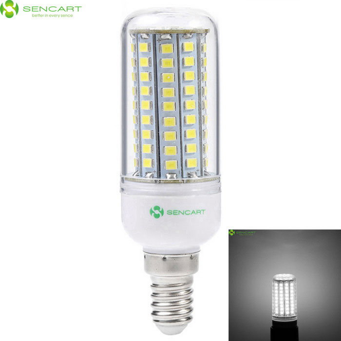 SENCART  E14 8W LED Corn Bulb Lamps Cool White LightE14<br>Color BINCool WhiteMaterialABS+PCB+LEDForm  ColorWhite + Transparent + Multi-ColoredQuantity1 DX.PCM.Model.AttributeModel.UnitPower8WRated VoltageAC 220-240 DX.PCM.Model.AttributeModel.UnitConnector TypeE14Chip BrandEpistarChip Type2835SMD LEDEmitter TypeOthers,2835 SMD LEDTotal Emitters102Theoretical Lumens1200 DX.PCM.Model.AttributeModel.UnitActual Lumens800 DX.PCM.Model.AttributeModel.UnitColor Temperature6000KDimmableNoBeam Angle360 DX.PCM.Model.AttributeModel.UnitPacking List1 * E14 LED Bulb<br>