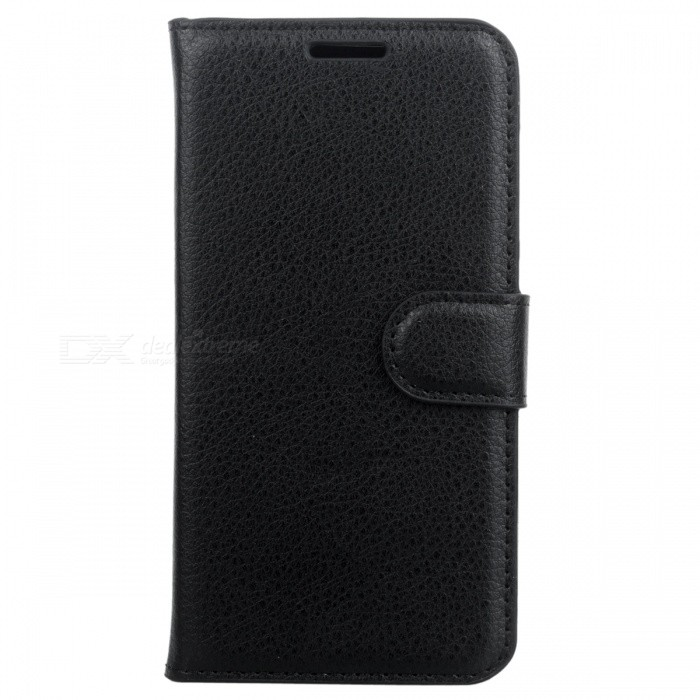 Lichee Pattern Protective Case for HUAWEI Y3 II / Y311 - BlackLeather Cases<br>Form  ColorBlackModel001MaterialPUQuantity1 DX.PCM.Model.AttributeModel.UnitShade Of ColorBlackCompatible ModelsHUAWEI  Y3 II /Y311FeaturesAnti-slip,Shock-proof,Abrasion resistance,Easy-to-remove,Holder functionPacking List1 * Case<br>