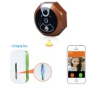 Inteligentní Wi-Fi Video Phone 720P Intercom Zvonek - Bronze (USA Zátky)