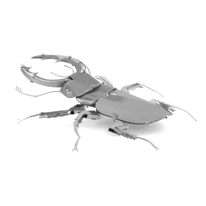 DIY 3D Puzzle Assembled Model Toy Stag Beetle - SilverBlocks &amp; Jigsaw Toys<br>Form  ColorSilverMaterialStainless steelQuantity1 DX.PCM.Model.AttributeModel.UnitNumber1Size7.7*5*2.5CMSuitable Age 5-7 years,8-11 years,12-15 years,Grown upsPacking List1 * Model board<br>