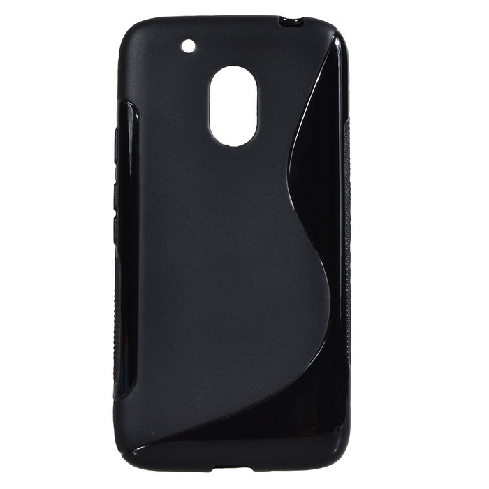 """S"" Style Protective TPU Back Case for MOTO G4 Play - Black"