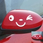 ZIQIAO Smile Face Design 3D Decoration Sticker for Car - Silver