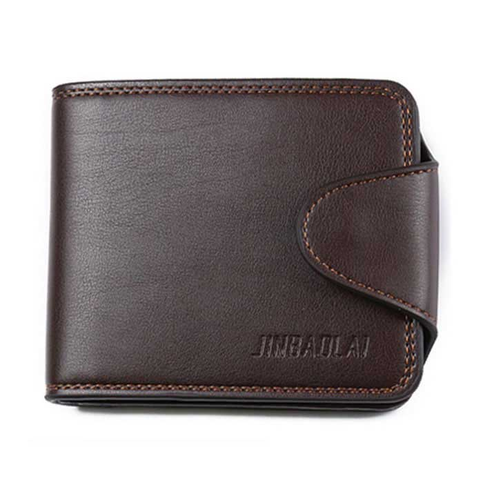 JIN BAO LAI Casual Zipper Fastener Folding Wallet for Men - CoffeeWallets and Purses<br>Form ColorCoffeeQuantity1 DX.PCM.Model.AttributeModel.UnitShade Of ColorBrownMaterialPUGenderMenSuitable forAdultsOpeningHaspStyleCasualWallet Dimensions12.5 * 10 * 2.5cmOther Featureswith 1 large space wallet,1 zipper wallet,7 card slots,1 photo slot,1 coin pocket;Packing List1 * Purse<br>