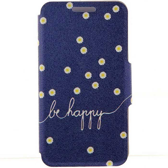 SZKINSTON Daisies + Be Happy Pattern Case for iPhone 6 Plus / 6S PlusLeather Cases<br>Form  ColorBlue + Black + Multi-ColoredModelKST1606020Quantity1 DX.PCM.Model.AttributeModel.UnitMaterialPU Leather + PCCompatible ModelsIPHONE 6S PLUS,IPHONE 6 PLUSStyleFull Body CasesDesignMixed Color,Graphic,With Stand,Card SlotAuto Wake-up / SleepNoPacking List1 * Case<br>