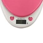 KS-686 3000g/0.1g Kitchen Scale Baking / Medicine Scale - White + Pink