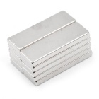 Rectangular 30 * 10 * 3mm Magnet Set - Silver (10PCS)
