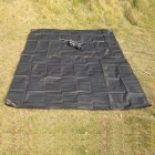 Aotu AT6212 Outdoor Oxford Kangas Picnic Mat - Musta (210 * 220cm)