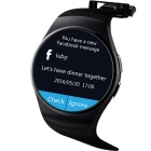 KW18 Full Circular Screen Heart Rate Smart Watch - Black
