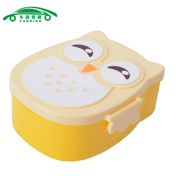 CARKING Cute Cartoon Owl Shaped Lunch Boxes for Children / Students
