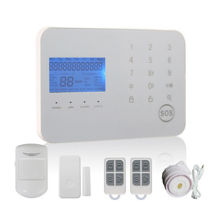 Touch Keypad GSM &amp; PSTN Dual Network Alarm System - White (AU Plug)Alarm Systems<br>Form  ColorWhitePower AdapterAU PlugModelWL-JT-99CSMaterialABSQuantity1 DX.PCM.Model.AttributeModel.UnitScreen Size6.3*3.5 DX.PCM.Model.AttributeModel.UnitRemote Control Range50 DX.PCM.Model.AttributeModel.UnitVoice Decibels110Power AdaptorYesPower SupplyAAAWorking Temperature-10-40 DX.PCM.Model.AttributeModel.UnitWorking Humidity80%Working Frequency433Power SupplyAAA,AC 220VBattery included or notYesBattery Number6 * AAARated Current2 DX.PCM.Model.AttributeModel.UnitRate VoltageDC 9V-12VCertificationCEOther Featuresalarm panel supports Android &amp; IOS APP operationPacking List1 * Alarm system1 * Wireless pir2 * Remote control1 * Wireless door sensor1 * Power charger (100~240V / AU plug / 140cm-cable)1 * Alarm1 * Telephone cable (150cm)1 * Chinese Description<br>