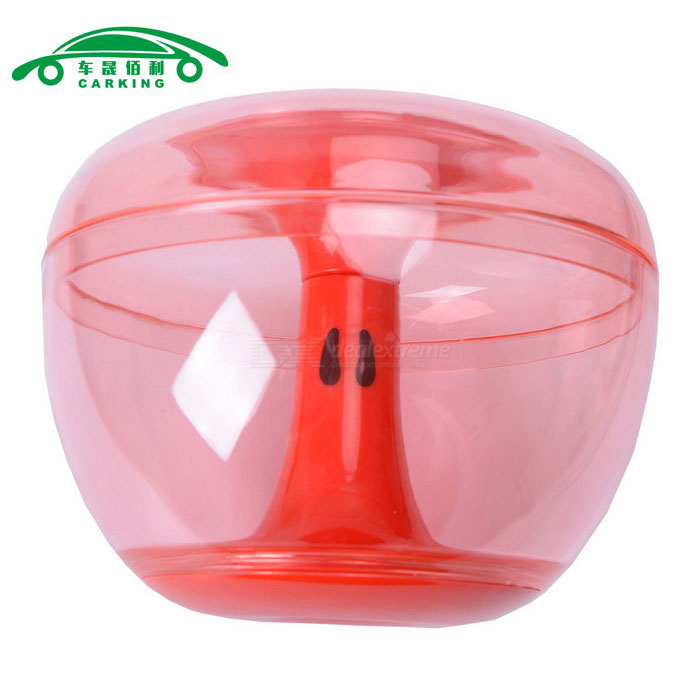 Apple Shape Cookie Candy Jar Storage Box Can - Translucent Red