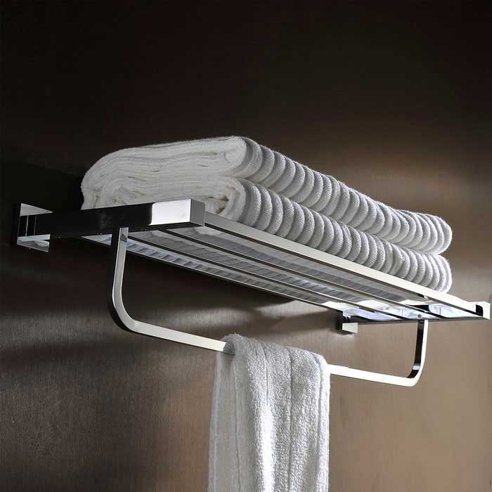 Buy High Quality Elegant Hotel Dedicated Brass Bathroom Towel Rack with Litecoins with Free Shipping on Gipsybee.com